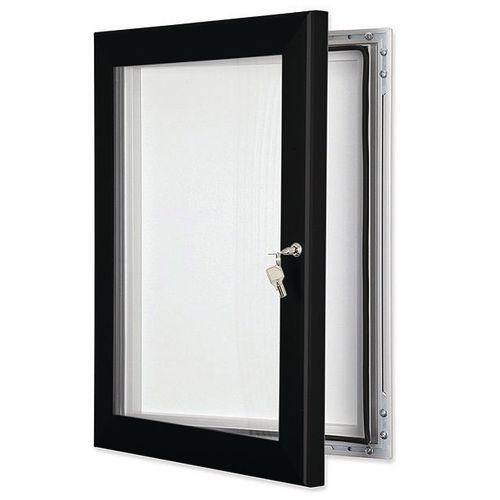 Coloured frame external noticeboard