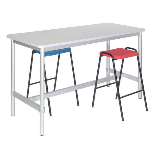 Sit Stand Desks ENVIRO PROJECT TABLE 900MM  HIGH BEECH TOP/LIGHT GREY EDGE