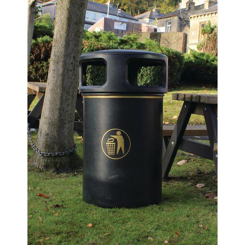 Rubbish Bins OUTDOOR LITTERBIN BLACK
