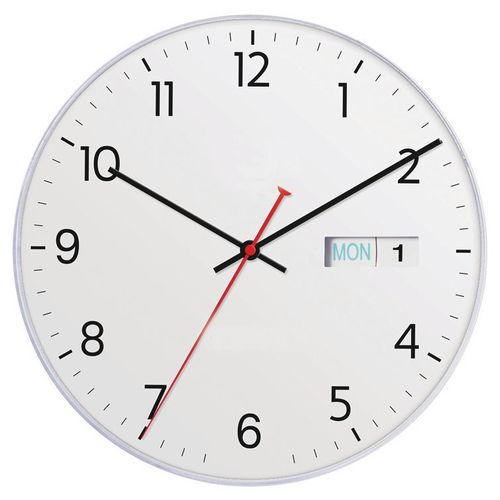 Wall DATETIME 28CM DAY/DATE WALL CLOCK