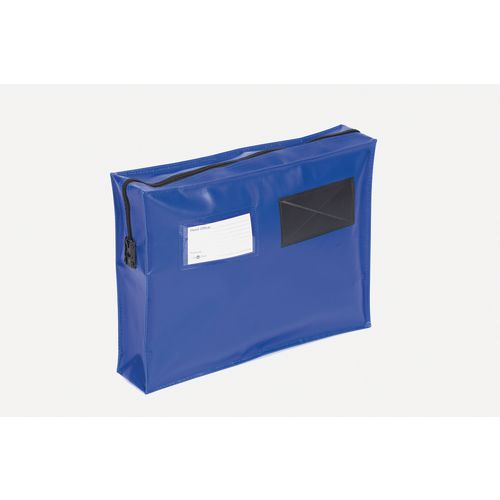 Bags Reusable tamper evident mailing pouches, flat with long zips