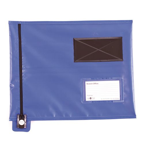 Bags Reusable tamper evident mailing pouches, flat with short zips