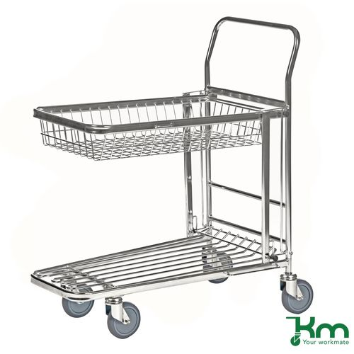 Platform Trucks NESTING STOCK TROLLEY WITH RETRACTING WIRE TRAY