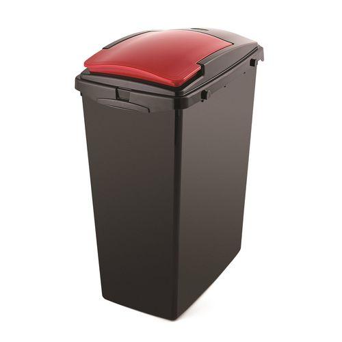 40L Recycling bin lids, red