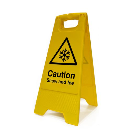 Warning HEAVY DUTY a-BOARD  - 'CAUTION SNOW AND ICE'