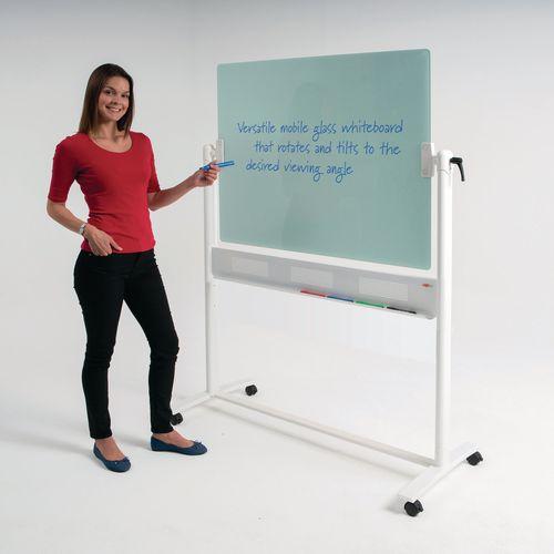 Non-Magnetic WRITEON  GLASS  REVOLVING WHITEBOARD