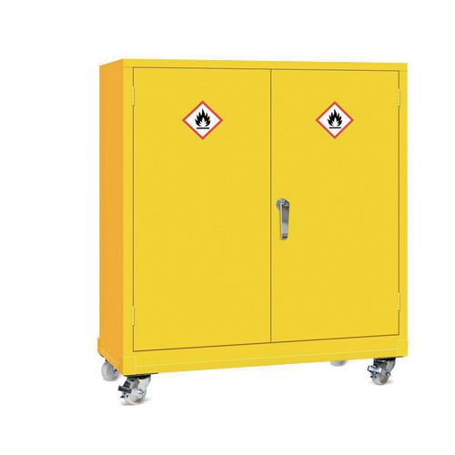 Mobile Dangerous Substance Cabinet  Double Door Unit With 3