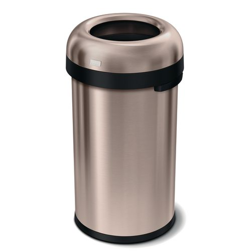 Rubbish Bins SIMPLEHUMAN BULLET  OPEN BIN 60 LITRE, ROSE GOLD