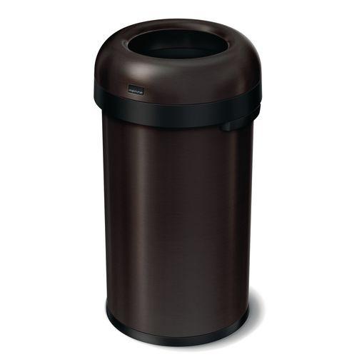 Rubbish Bins SIMPLEHUMAN BULLET OPEN BIN 60 LITRE, DARK BRONZE