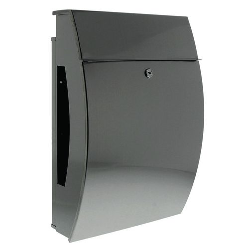 Post Boxes HIGH QUALITY STAINLESS STEEL.WEATHER RESISTANT SEALED + PROTECTIVE  FINISH.  REAR COMPARTMENT FOR ADDITIONAL MAIL. W322 X H478 x D152 SLOT 245 X35MM