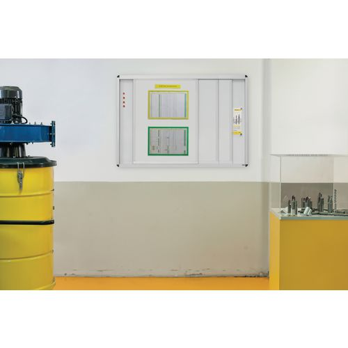 Magnetic HORIZONTAL SLIDING SYSTEM - W900  X H1200MM (EACH BOARD) - LACQUERED STEEL SURFACE