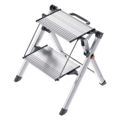 Hailo compact folding aluminium steps