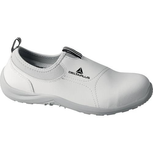 Miami white slip on safety shoes - Size 4 - White