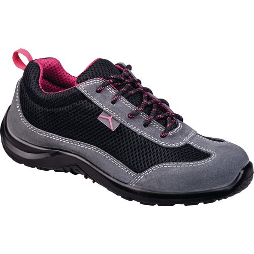 Ladies suede leather safety trainers
