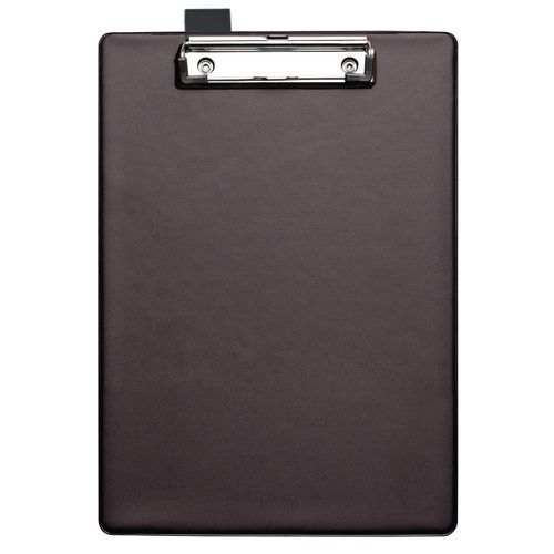 Clipboards PVC CLIPBOARD WITH  PEN HOLDER A4 BLACK