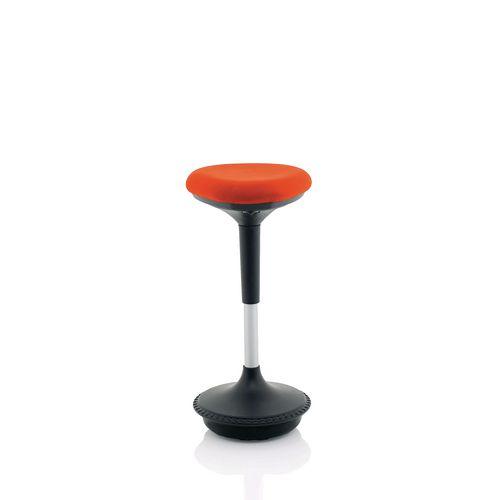 Saddle sit/stand stool