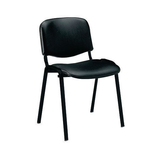 Stacking Chairs ISO -BLACK VINYL  STACKING CHAIR PK 10