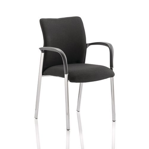 Boardroom / Meeting ACADEMY VISITOR CHAIR BLACK FABRIC BACK WITH ARMS