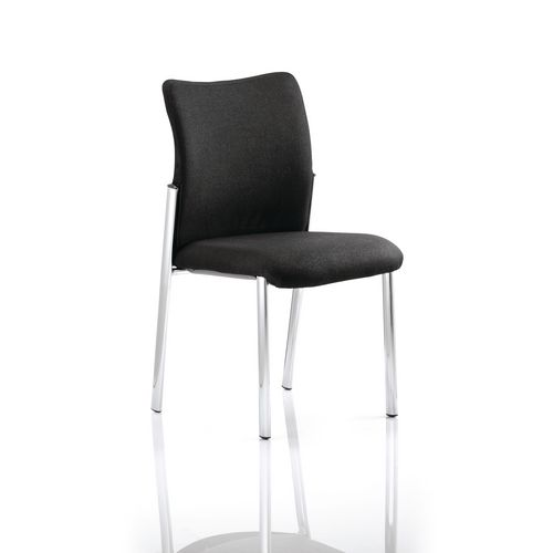 Boardroom / Meeting ACADEMY VISITOR CHAIR BLACK FABRIC BACK WITHOUT ARMS