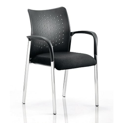 Boardroom / Meeting ACADEMY VISITOR CHAIR BLACK PLASTIC BACK WITH ARMS