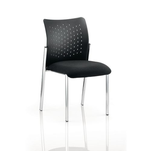 Boardroom / Meeting ACADEMY VISITOR CHAIR BLACK PLASTIC BACK WITHOUT ARMS