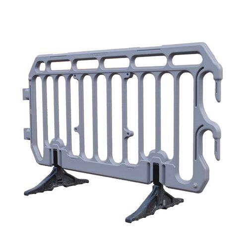 Plastic crowd control barrier