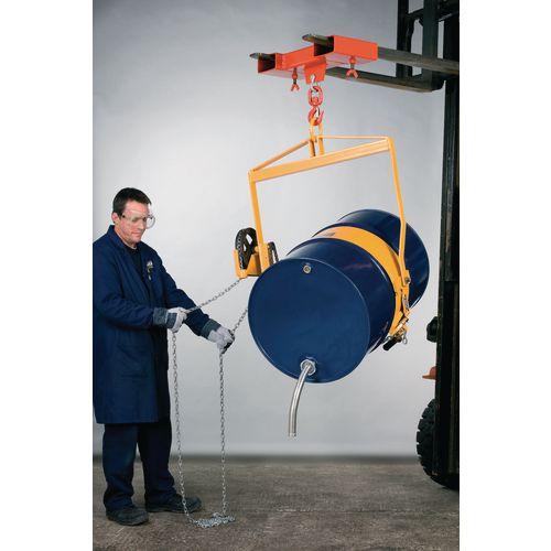 Vertical drum lifters/tilters