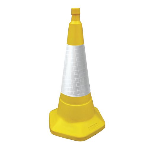 Vehicle Equipment / Supplies Coloured cones with reflective sleeves, 50cm high yellow