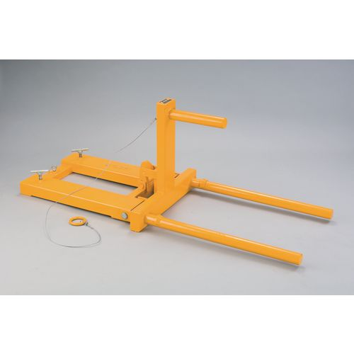 Forklift operated drum positioner
