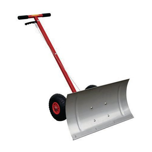 Snow plough with stainless steel blade