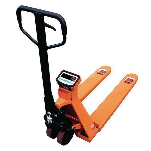 Pallet truck scales, with printer option