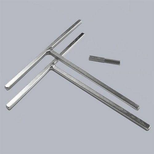 Allen keys pair and drill bit