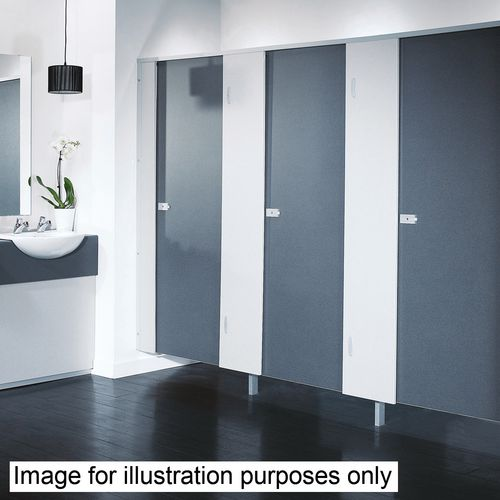Washroom Cubicle - Door kit only (Box A), Smoke blue plain
