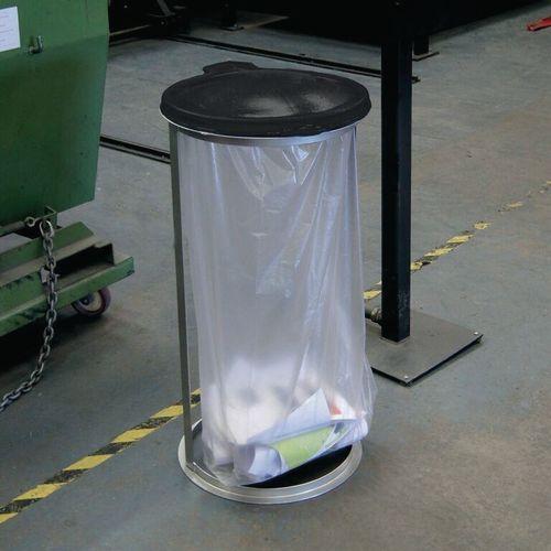 Open sackholder bin