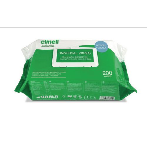 Clinell universal wipes, pack of 200