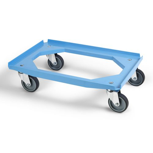 Large wheel ABS plastic dolly - 200kg load capacity