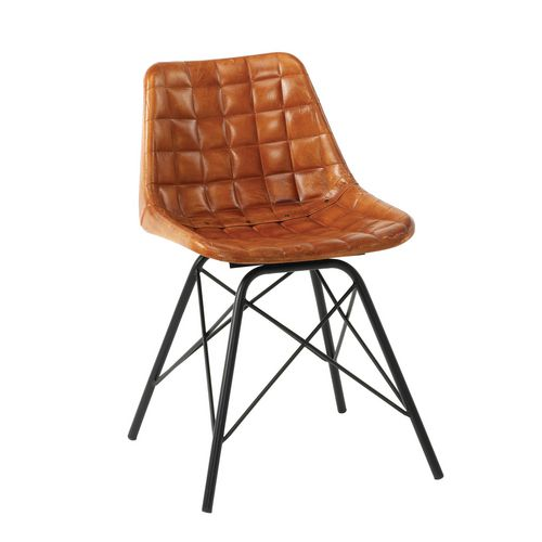 Classic leather side chair