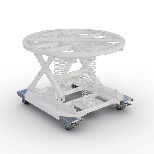 Pallet positioner accessories - Portability kit/wheelframe