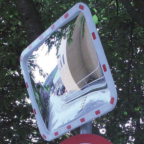 Reflective outdoor traffic mirror - Rectangular