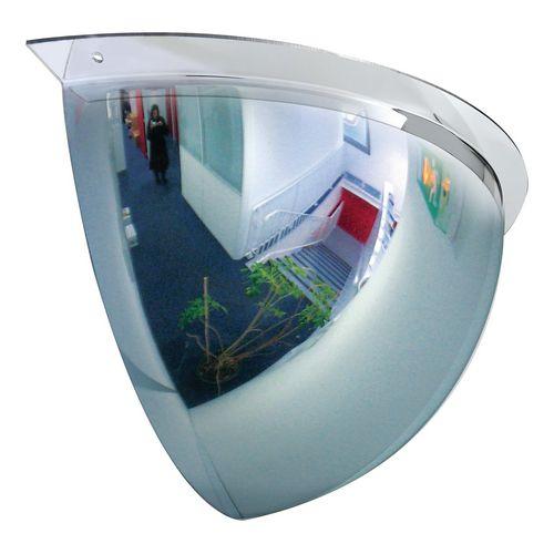 Premium hemispherical quarter dome mirror, 660mm dia.