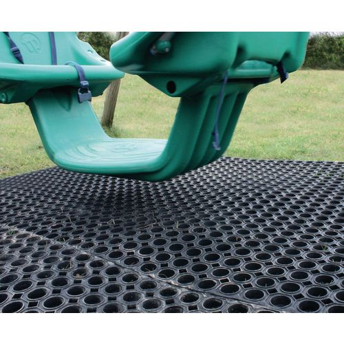 Outdoor protective safety recreation matting