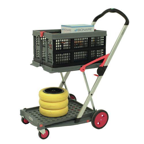 Clax folding trolley, red/grey
