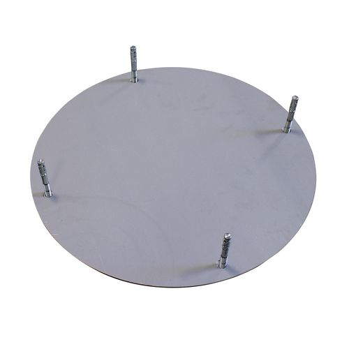 Ground fixing plate
