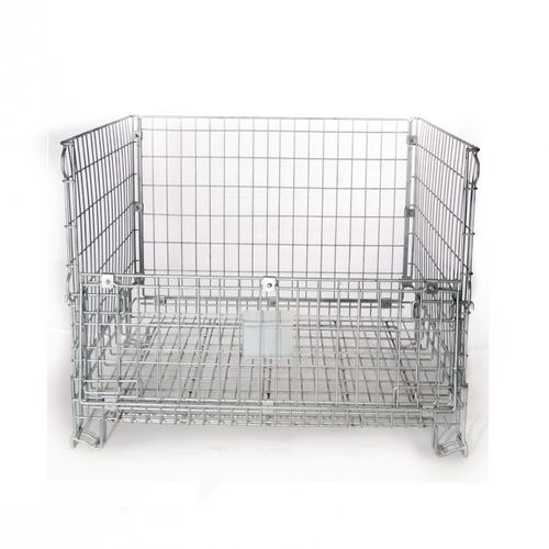Stackable wire frame container
