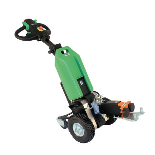Electric drive tug with powered clamping hook