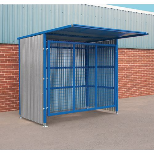 Gated drum shelter