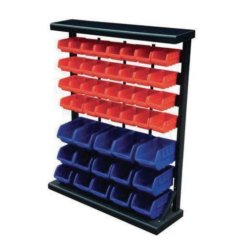Bin rack with 47 bins