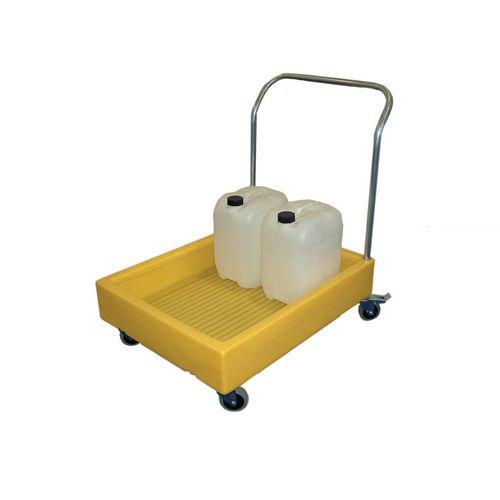 Lightweight plastic platform drum trolley