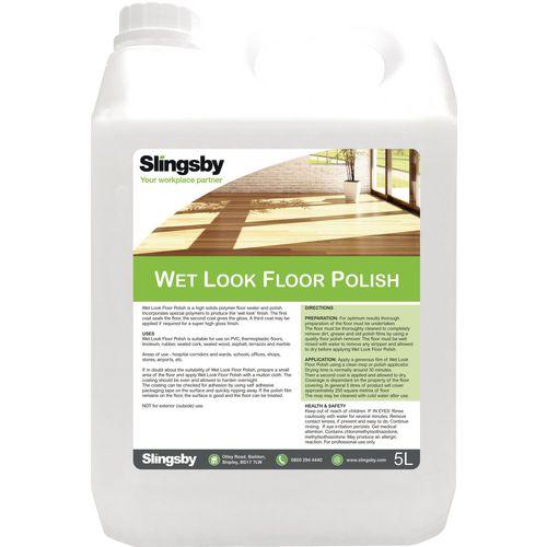 Wet look floor polish