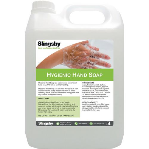 Hand Soaps / Sanitisers & Dispensers SLINGSBY BRANDED HIGH FOAM BACTERICIDAL SOAP